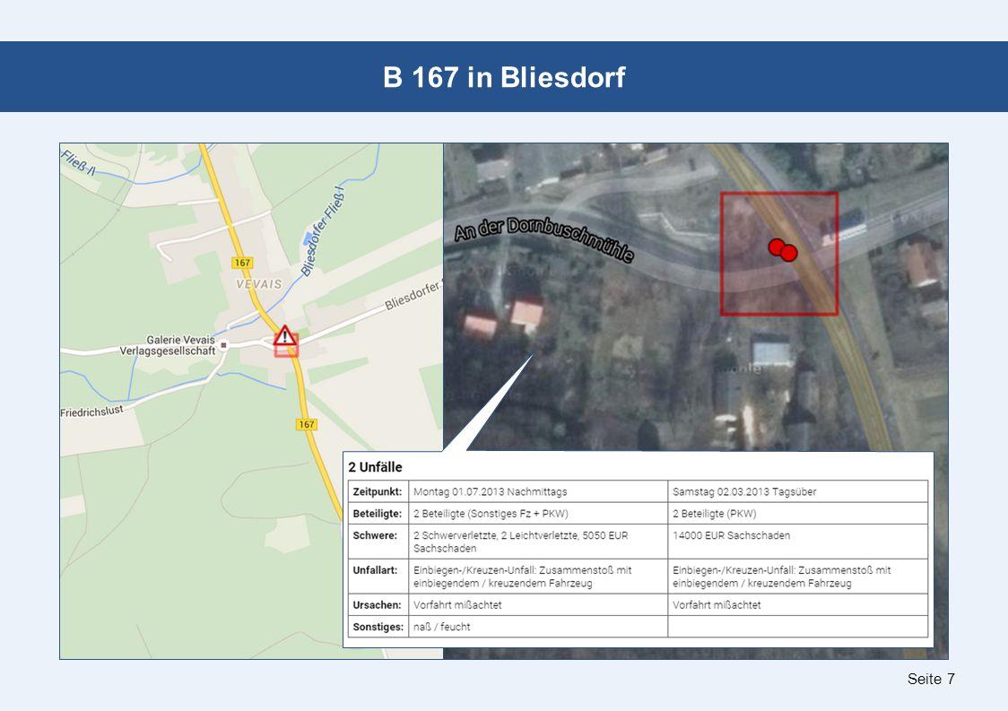 Seite 7 B 167 in Bliesdorf