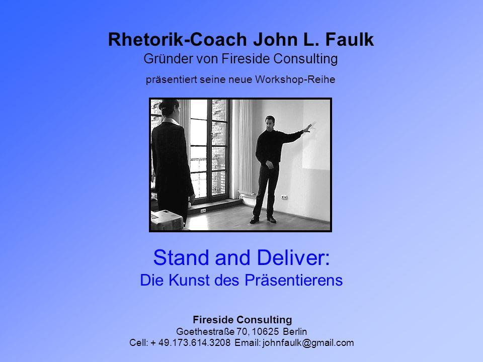 Rhetorik-Coach John L.