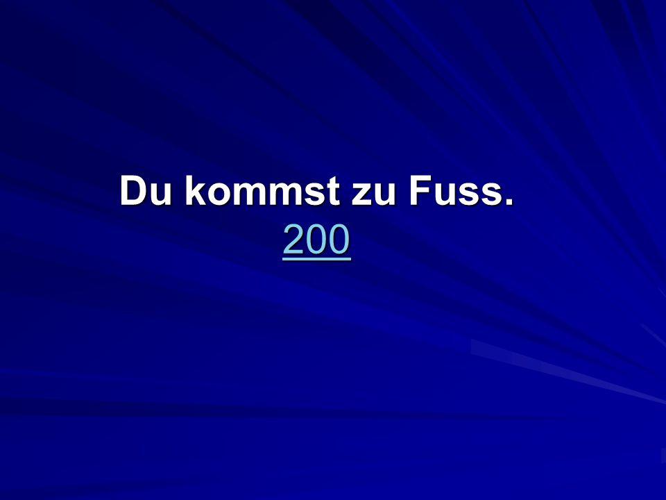 Du kommst zu Fuss. 200 200