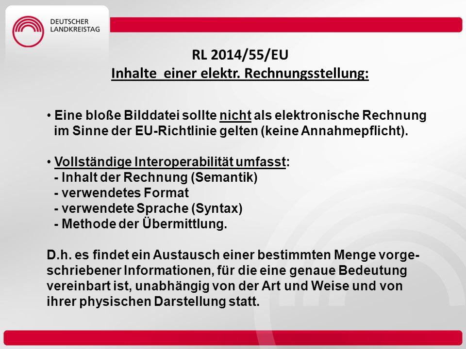 RL 2014/55/EU Inhalte einer elektr. Rechnungsstellung: Eine bloße Bilddatei sollte nicht als elektronische Rechnung im Sinne der EU-Richtlinie gelten
