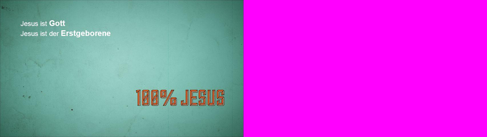 Jesus ist der Erstgeborene