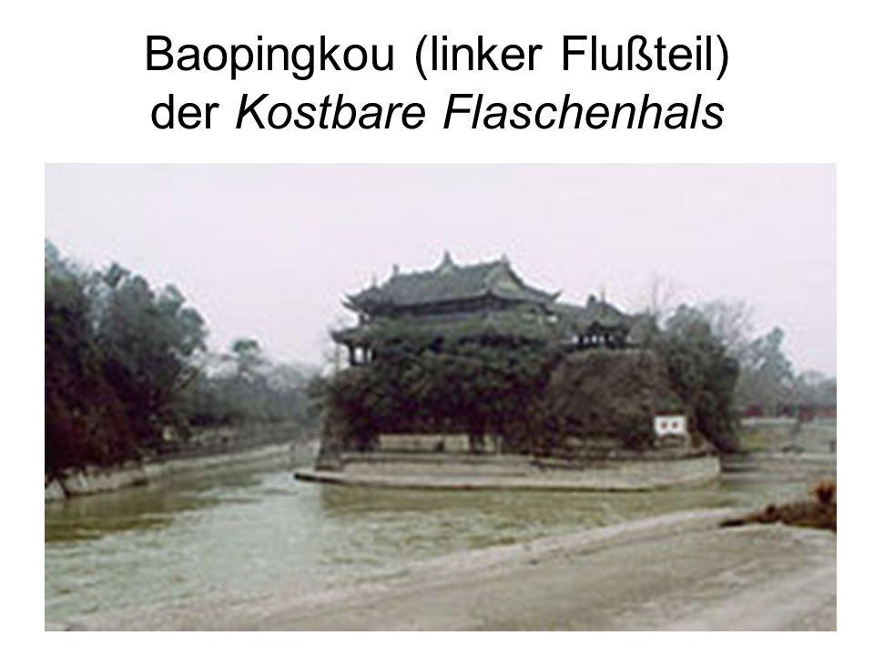 Baopingkou (linker Flußteil) der Kostbare Flaschenhals