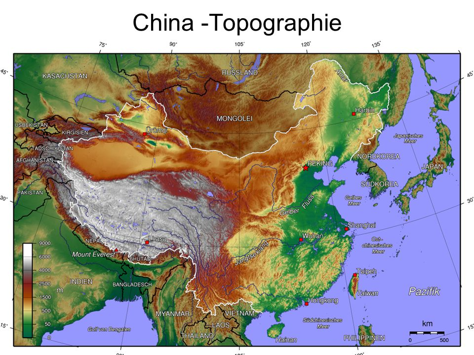 China -Topographie