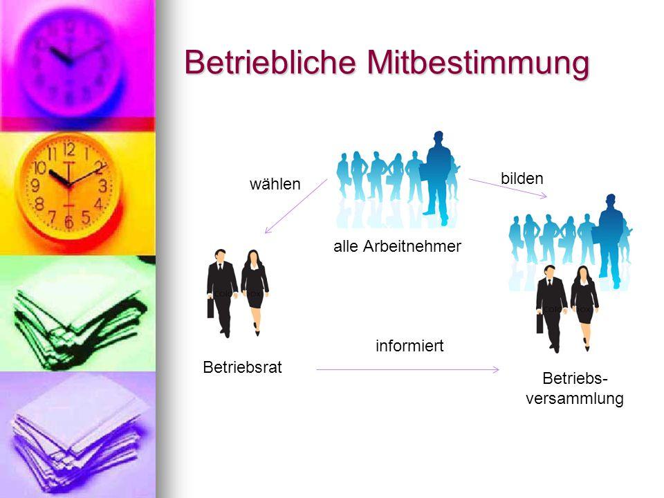 Betriebsrat alle Arbeitnehmer Betriebs- versammlung wählen bilden informiert