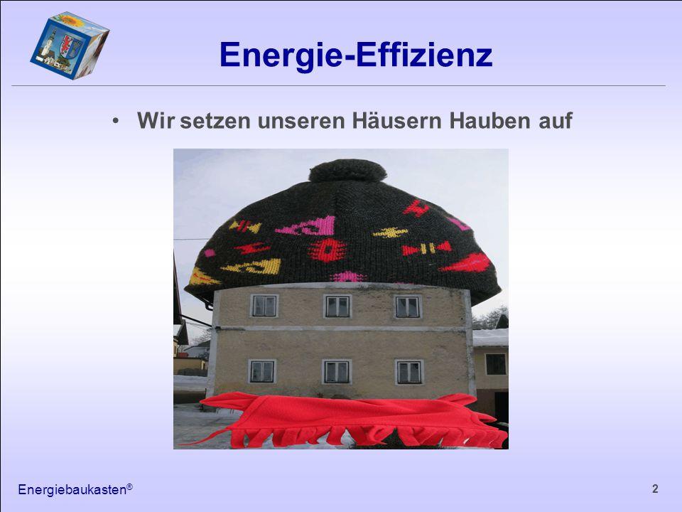 Energiebaukasten ® 3 Wärmeverluste über die Gebäudehülle