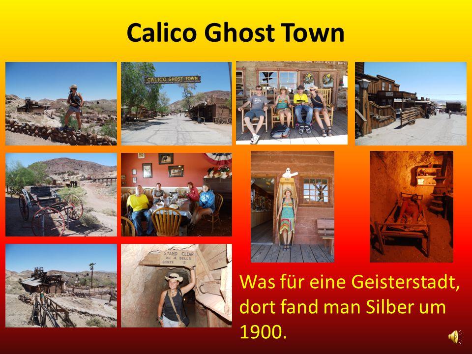 Calico Ghost Town Was für eine Geisterstadt, dort fand man Silber um 1900.