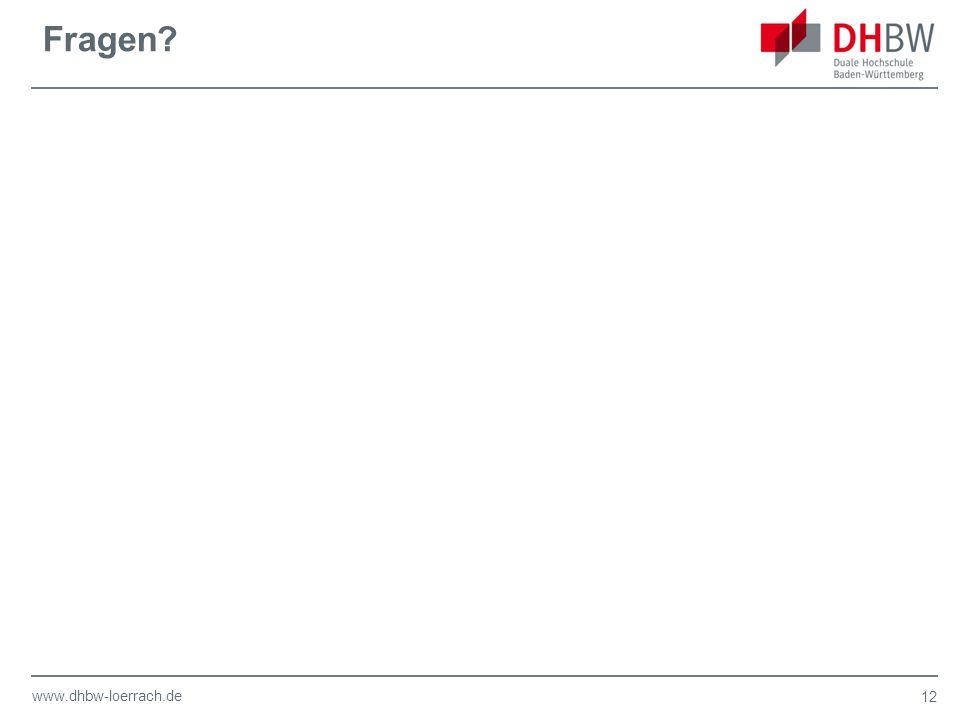 www.dhbw-loerrach.de Fragen 12