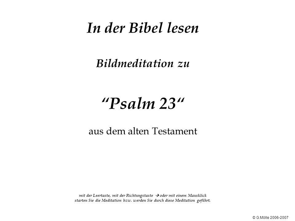 """In der Bibel lesen Bildmeditation zu """"Psalm 23"""" aus dem alten Testament mit der Leertaste, mit der Richtungstaste  oder mit einem Mausklick starten S"""