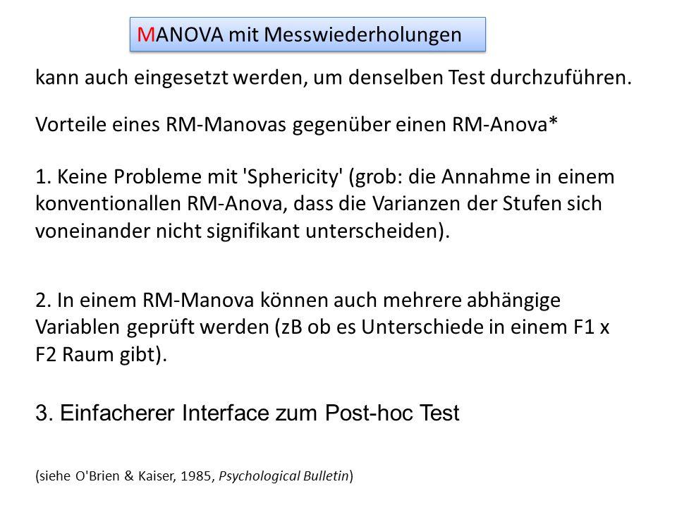 MANOVA mit Messwiederholungen kann auch eingesetzt werden, um denselben Test durchzuführen.
