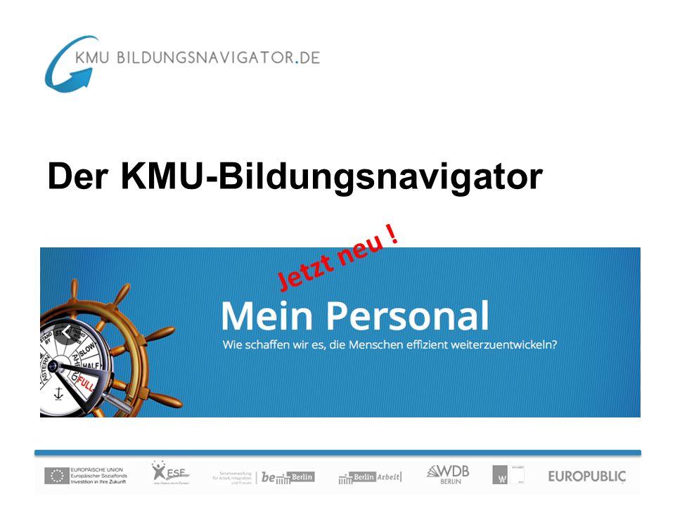 Der KMU-Bildungsnavigator Jetzt neu !