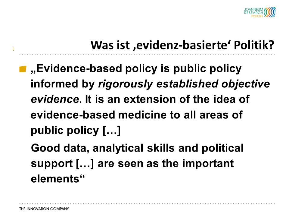 Und was ist realistische 'evidenz-basierte' Politik.