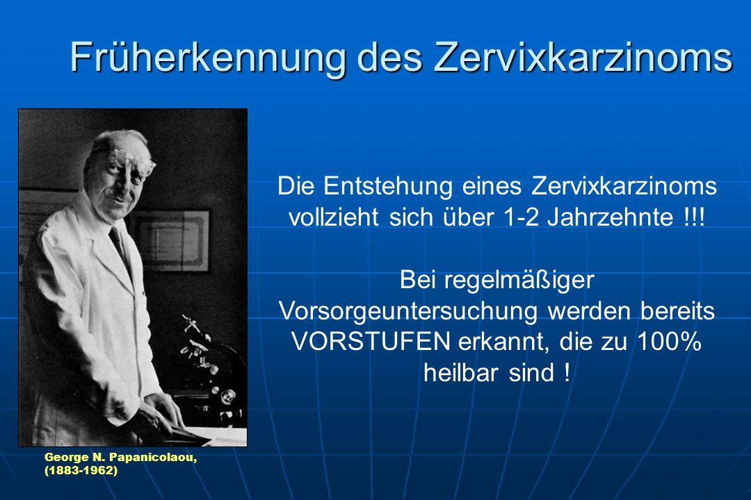 Früherkennung des Zervixkarzinoms Die Entstehung eines Zervixkarzinoms vollzieht sich über 1-2 Jahrzehnte !!.