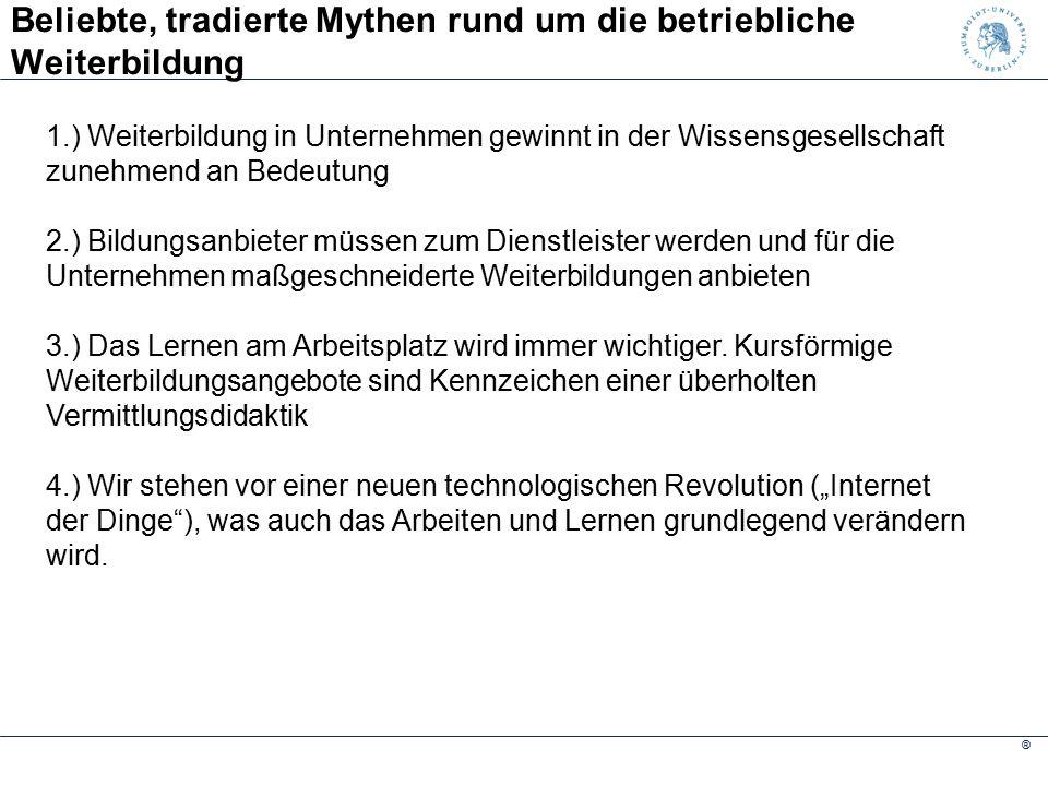 ® Stagnierende Ausgabenbereitschaft der Betriebe Quelle: IW Köln 2014, S. 8