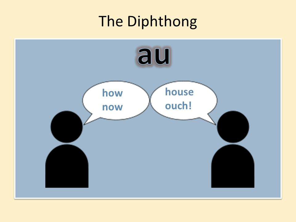 The Diphthong house ouch! how now