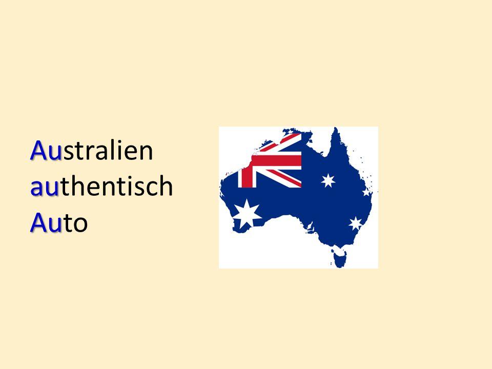 Au Australien au authentisch Au Auto