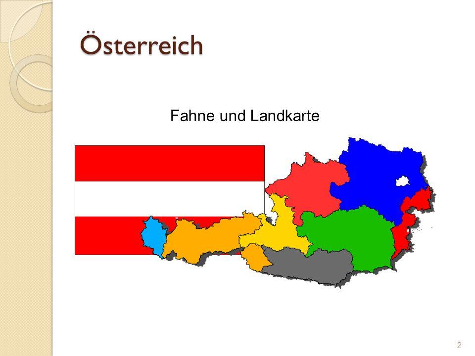 Österreich 2 Fahne und Landkarte