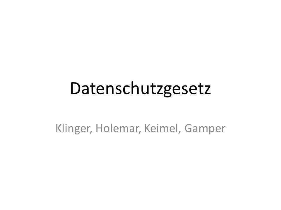 Datenschutzgesetz Klinger, Holemar, Keimel, Gamper