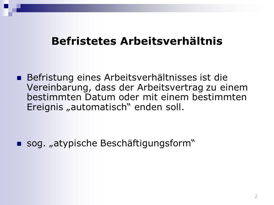 3 Befristungsrecht als Konkretisierung von Verfassungsrecht Grundgesetz  Art.