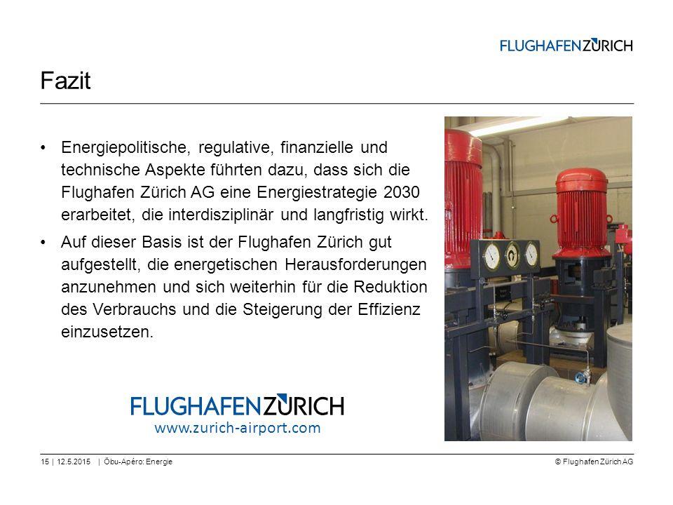 © Flughafen Zürich AG || Fazit Energiepolitische, regulative, finanzielle und technische Aspekte führten dazu, dass sich die Flughafen Zürich AG eine