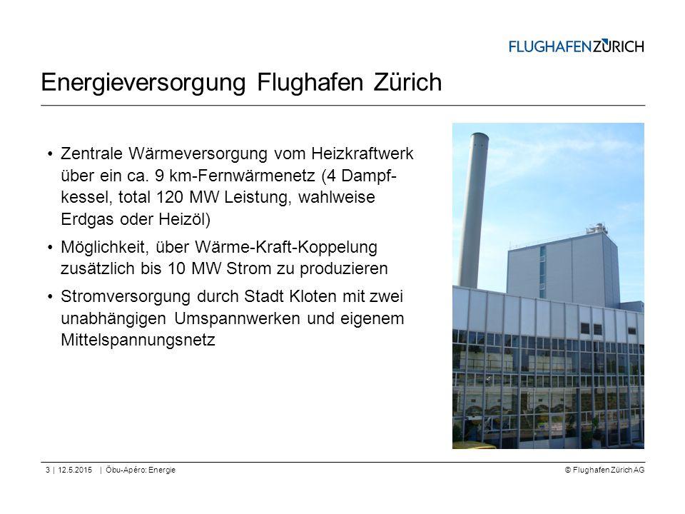 © Flughafen Zürich AG || Energieversorgung Flughafen Zürich 12.5.2015Öbu-Apéro: Energie3 Zentrale Wärmeversorgung vom Heizkraftwerk über ein ca. 9 km-