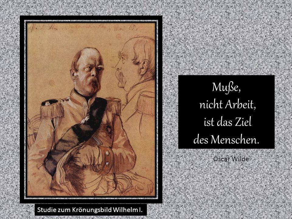 Studie zum Krönungsbild Wilhelm I.