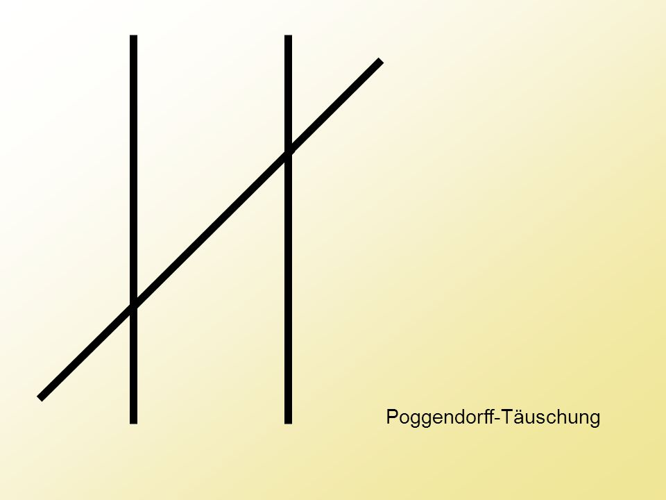 Poggendorff-Täuschung
