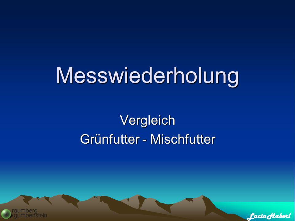 Lucia Haberl Messwiederholung Vergleich Grünfutter - Mischfutter