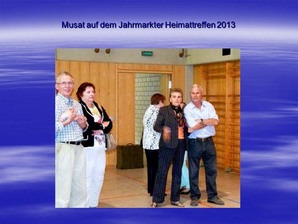 Musat auf dem Jahrmarkter Heimattreffen 2013