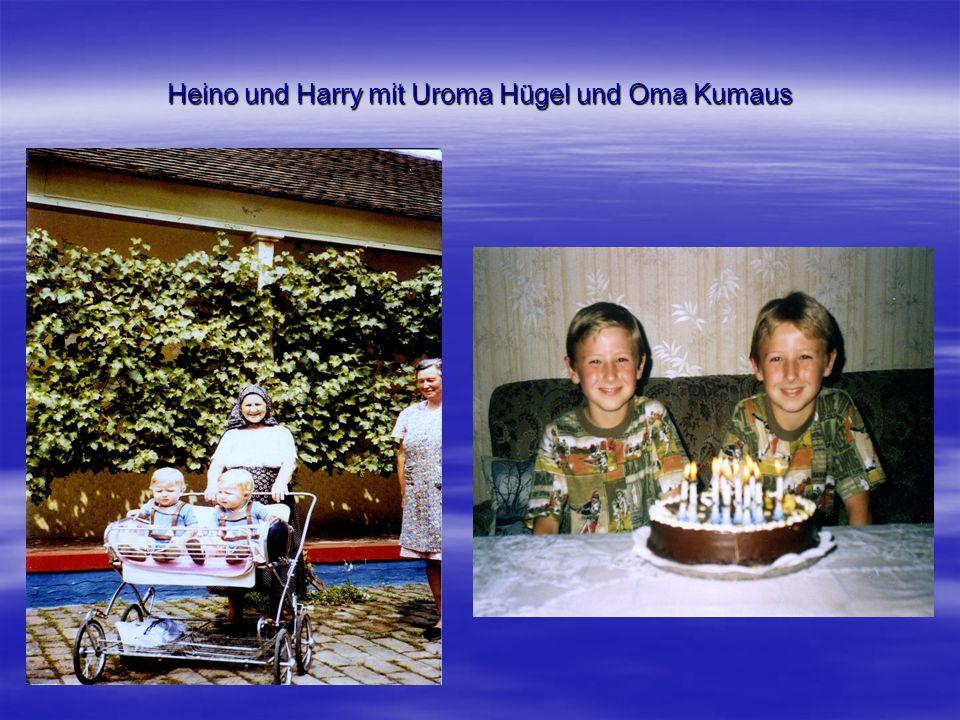 Heino und Harry mit Uroma Hügel und Oma Kumaus