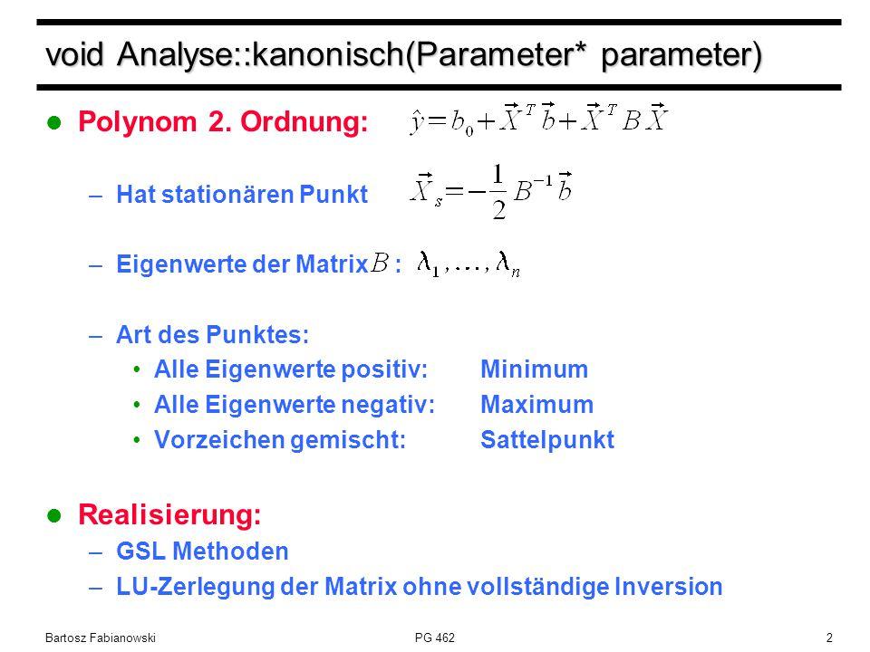 PG 4622 void Analyse::kanonisch(Parameter* parameter) Polynom 2.