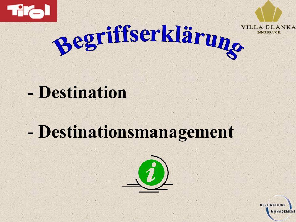 - Destination - Destinationsmanagement