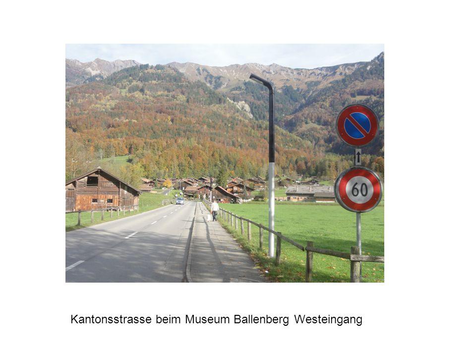 Wieselburg Kantonsstrasse beim Museum Ballenberg Westeingang