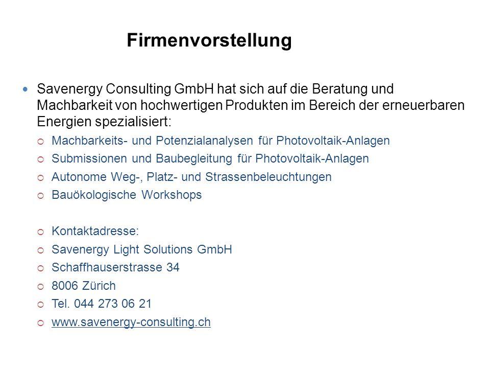 Savenergy Consulting GmbH hat sich auf die Beratung und Machbarkeit von hochwertigen Produkten im Bereich der erneuerbaren Energien spezialisiert:  M