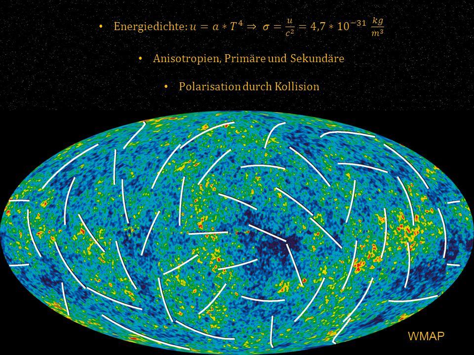 Polarisation => Erste Sterne erst 550 Millionen Jahre nach Urknall Folge von Reionisation Planck 2015