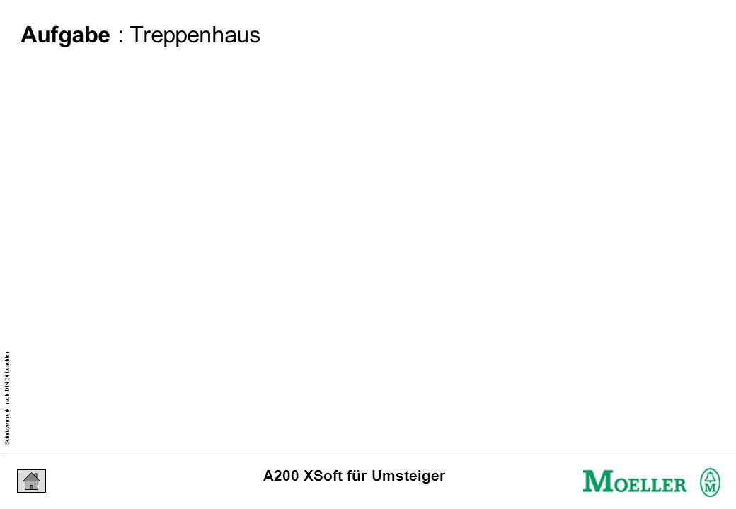 Schutzvermerk nach DIN 34 beachten 24/07/15 Seite 3 A200 XSoft für Umsteiger Aufgabe : Treppenhaus