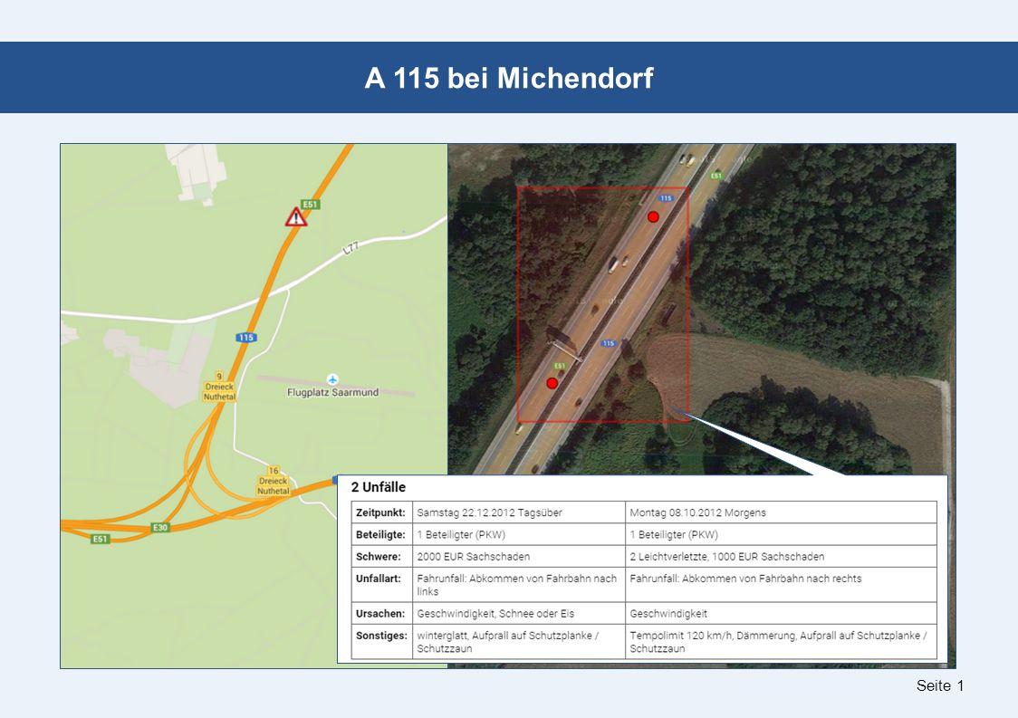 Seite 1 A 115 bei Michendorf