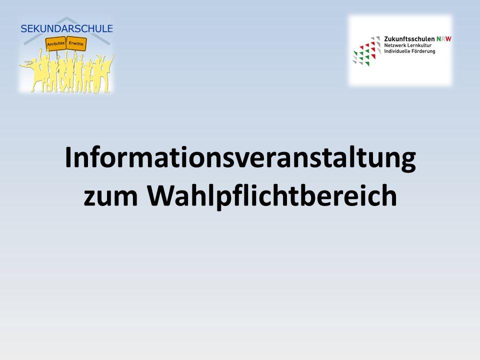 Informationsveranstaltung zum Wahlpflichtbereich