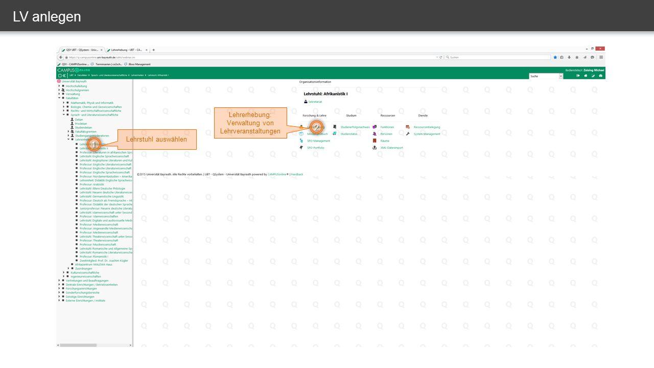 LV verknüpfen – SPO (-Version) auswählen 1 2 Falls nötig richtige SPO auswählen