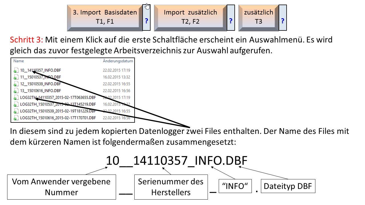 An Hand der vom Anwender vergebenen Nummer im Filenamen kann jetzt leicht entschieden werden, welches File als Basisdaten geladen werden soll.