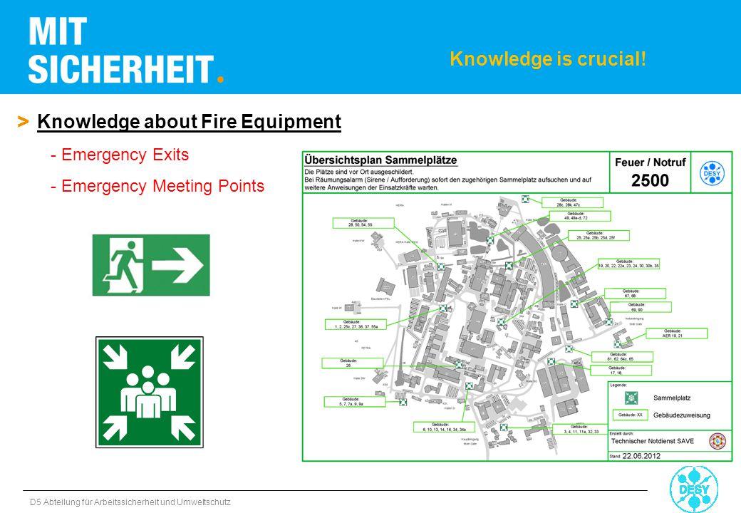 D5 Abteilung für Arbeitssicherheit und Umweltschutz > Knowledge about Fire Equipment - Emergency Exits - Emergency Meeting Points Knowledge is crucial