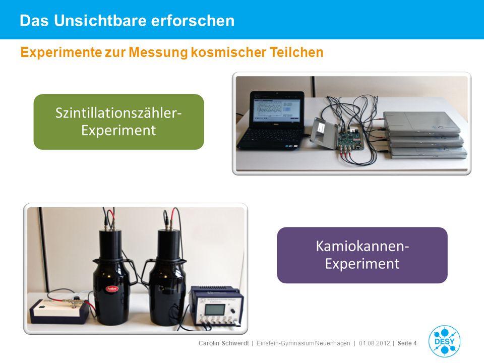 Offene Baustellen Schauermessung mit Szintillatoren vertiefende Lebensdauer- und Geschwindigkeitsmessung (z.B.
