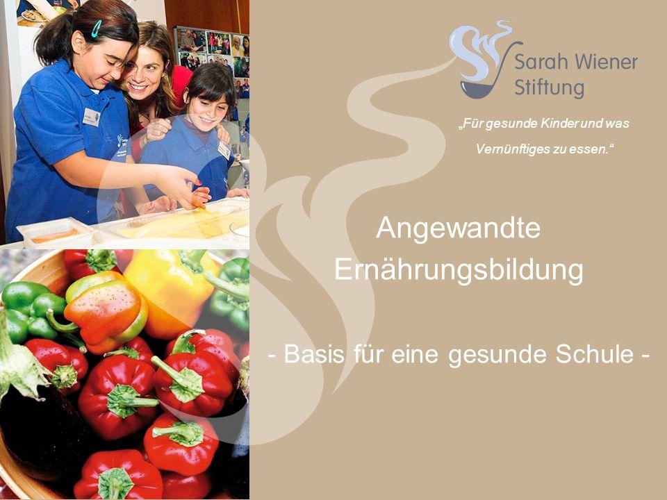 """""""Für gesunde Kinder und was Vernünftiges zu essen. Angewandte Ernährungsbildung - Basis für eine gesunde Schule -"""
