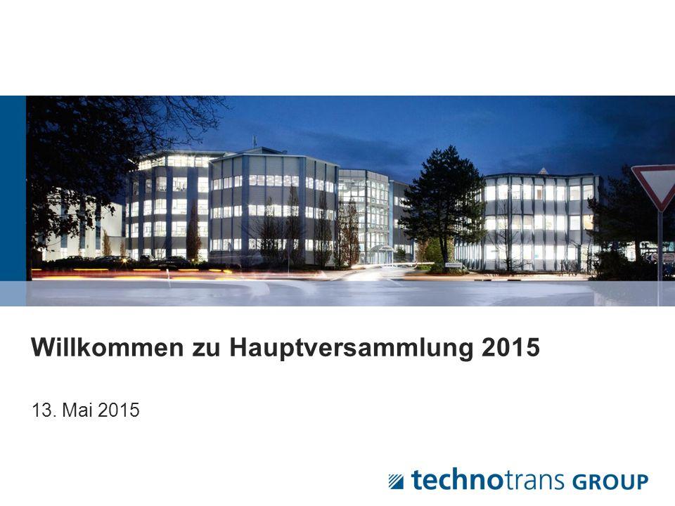 © 2015 technotrans AG – Germany Kursverlauf der technotrans Aktie Seite  12 Die technotrans- Aktie setzte im ersten Quartal 2015 ihren positiven Kursverlauf fort.