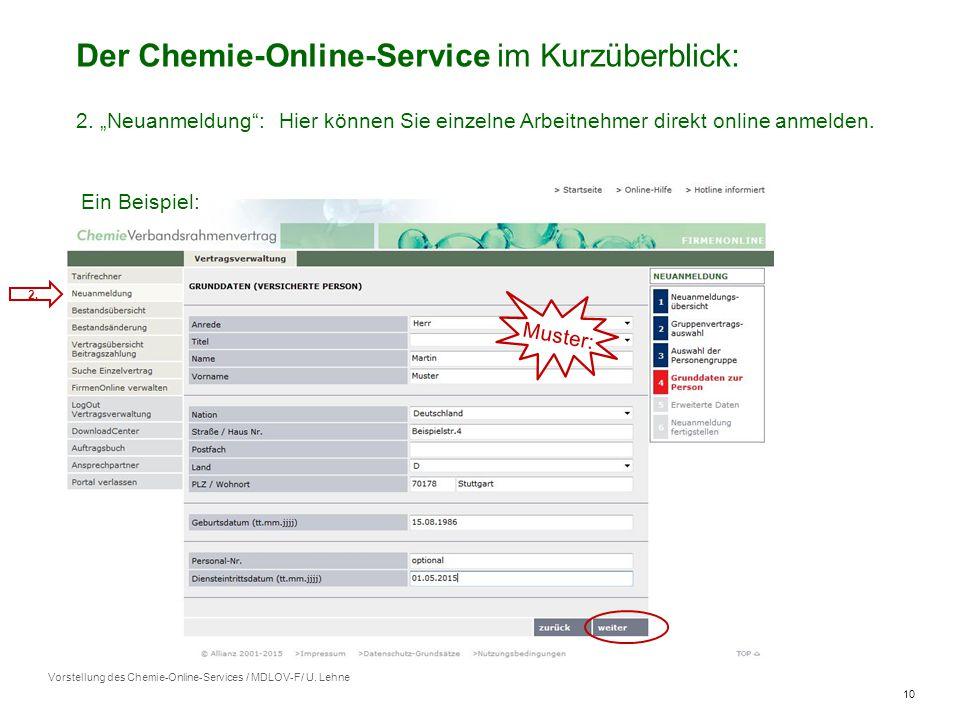 10 Vorstellung des Chemie-Online-Services / MDLOV-F/ U.