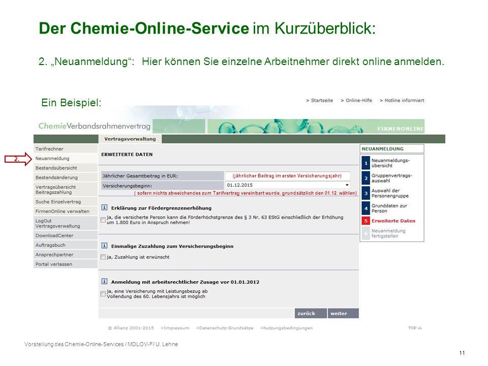 11 Vorstellung des Chemie-Online-Services / MDLOV-F/ U.