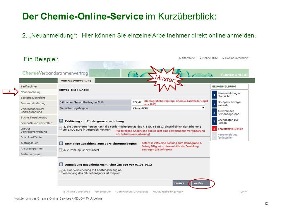 12 Vorstellung des Chemie-Online-Services / MDLOV-F/ U.