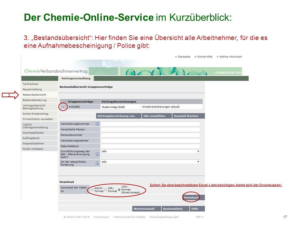 17 Vorstellung des Chemie-Online-Services / MDLOV-F/ U.