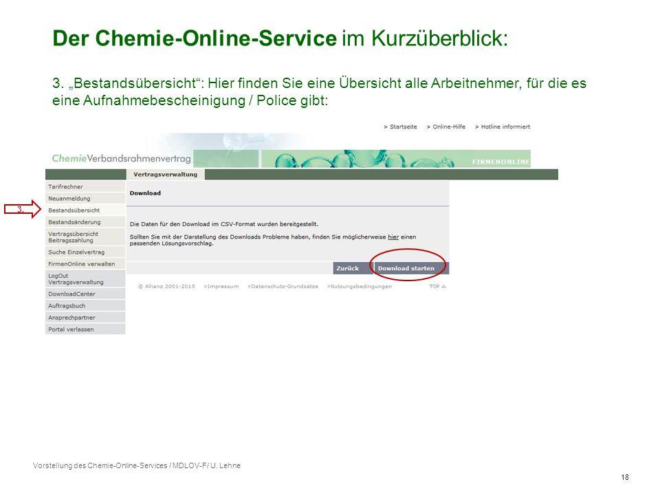 18 Der Chemie-Online-Service im Kurzüberblick: 3.