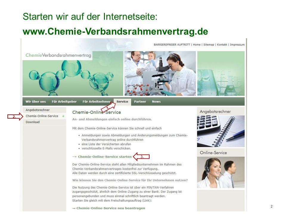 2 Starten wir auf der Internetseite: www.Chemie-Verbandsrahmenvertrag.de 1. 2. 3.