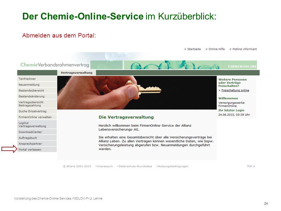 24 Vorstellung des Chemie-Online-Services / MDLOV-F/ U.